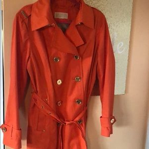 Michael kors orange trench coat
